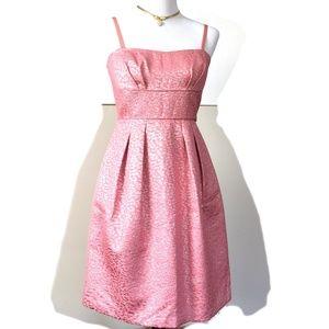New BCBGMaxAzria Pink Jacquard Party Prom Dress 6